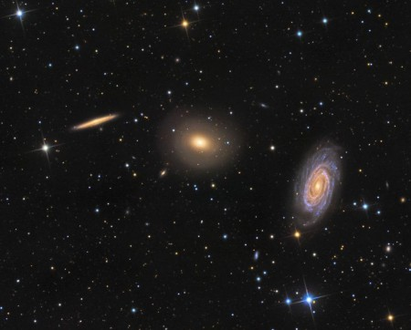 Trois galaxies dans la constellation du Dragon