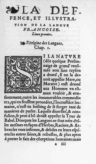 Joachim Du Bellay : Défense et illustration de la langue française (1549)