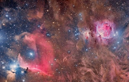 Nébuleuse dans le constellation d'Orion