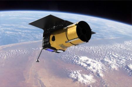 Vue d'artiste d'un télescope spatial Arkyd-100
