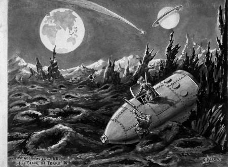 """Kepler n'aurait peut-être pas désavoué la vision lunaire que le cinéaste Georges Méliès propose dans son célèbre """"Voyage dans la Lune"""" (1902)"""