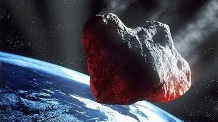 Vue d'artiste d'un astéroïde géocroiseur accessible à l'exploitiation minière