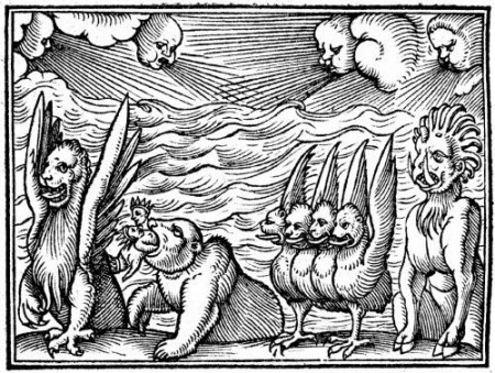 Les bêtes de l'Apocalypse du Livre de Daniel, l'une des sources d'inspiration de Kepler