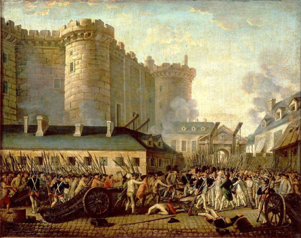 Prise de la Bastille et arrestation du gouverneur M. de Launay, le 14 juillet 1789.