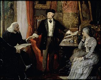Richard Wagner,  Cosima et Franz Liszt en 1880. Anonyme, Musée Wagner à Bayreuth