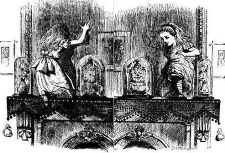 Lewis Caroll, Alice au pays des merveilles: De l'autre côté du miroir, illustration 1871.