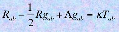 Selon  la théorie de la relativité génrale d'Einstein (1916), les mouvements célestes suivent les géodésiques d'un espace-temps courbe obéissant aux équations du champ gravitationnel