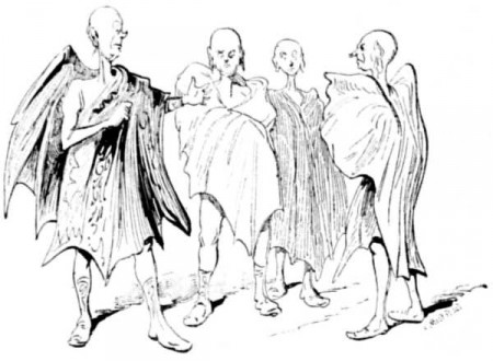 """Martiens ailés, imaginés en 1889 par Henry de Graffigny et Georges Le Faure dans leur récit de science-fiction """"Les aventures extraordinaires d'un savant russe"""""""