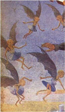 """Une autre vision de martiens ailés, dans """"Les Aventuriers du Ciel"""" de R.M. de Nizerolles (1935-1937)"""