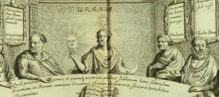 1.Détail du frontispice du Prodromus Astronomiae (1690) de Johannes Hevelius