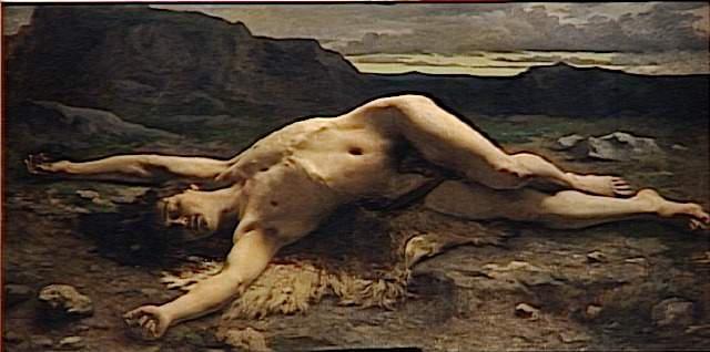 """peinture      tableau      BELLANGER Camille   Titre  Abel   Ecole  France      3e quart 19e siècle   Lieu de conservation  Paris ; musée d'Orsay   ------------------------------------------------------------------------- ENGLISH--- Bible writing ( Bible online ) others harmonics search """"topicals"""" FRANCAIS---Ecrits bibliques voir Bible online-""""update"""" pour la traduction en français-Harmoniques bibliques chercher sur """"topicals"""" --------------------------------------------------------------------------  Genesis 4 Cain and Abel _ Genèse 4 Caïn et Abel  --------------------------------------------------------------------------               /19 Bellanger Abel, Paris LOU                  /__/_____/_____________________________________________/"""