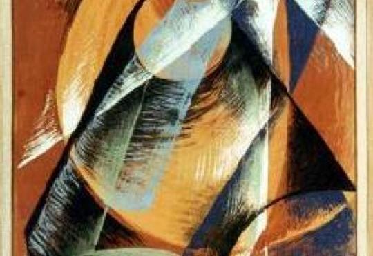 """A l'occasion du passage de Mercure devant le Soleil du 7 novembre 1914, le peintre italien Giacomo Balla (1871-1958) a peint la même année ce tableau d'inspiration cubiste, intitulé """"Mercure devant le Soleil vue au télescope""""."""