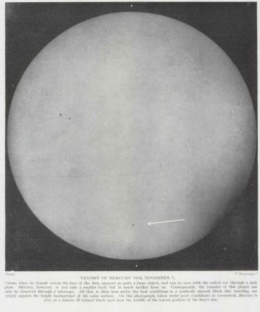 Photographie du transit de 1914 par Marschall.