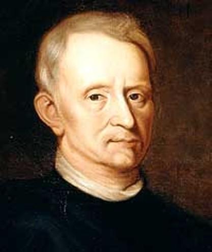 Le génial Robert Hooke, rival et ennemi juré d'Isaac Newton.