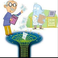 L'information contenue dans le journal intime du personnage sera-t-elle entièrement restituée lors de l'évaporation quantique du trou noir? Selon la relativité générale classique, non. Selon la mécanique quantique, oui.