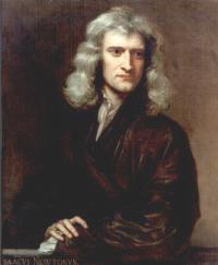 Portrait de Newton par Kneller