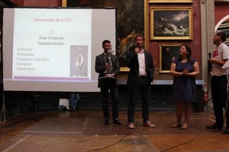 Jean-François Desmarchelier reçoit son prix Diderot-Curien , juin 2014