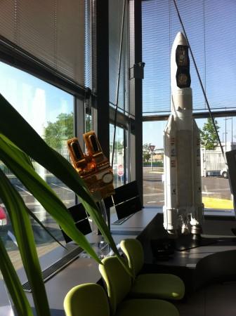 Ariane 5 dans le hall d'accueil du CNES, Toulouse