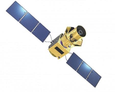 Vue d'artiste du satellite LiteBIRD Crédits : JAXA